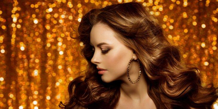 Balíček pro ženy: melír, střih, styling, keratin i liftingová masáž a líčení