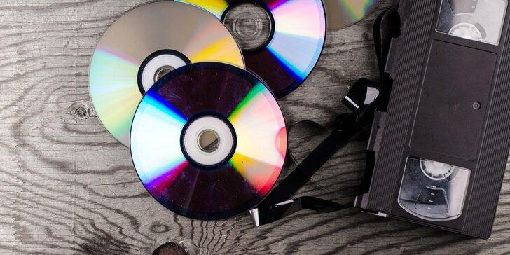 Převod VHS kazet v délce až 240 minut na DVD nebo Flash disk