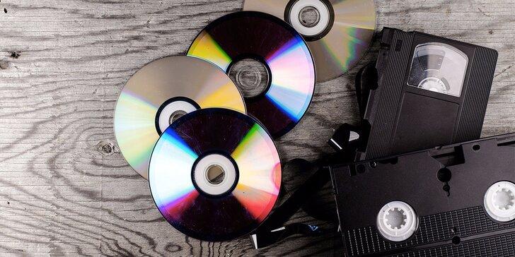 Pusťte VHSky na odpočinek: profesionální digitalizace i převod na DVD či USB