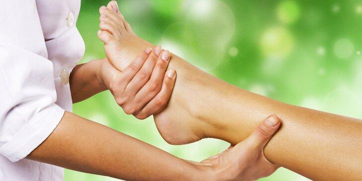 Lymfatická masáž s reflexním ozdravným ošetřením plosek nohou