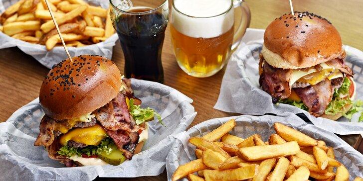 Burger pro sýrového krále: šťavnatý Big Cheese s hranolkami