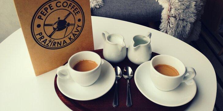 2x káva dle výběru z prémiové hradecké pražírny i ve variantě s příchutí