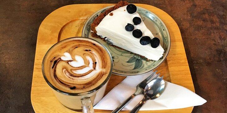 Pauza v centru Prahy: káva dle výběru třeba i s dezertem pro 1 nebo 2