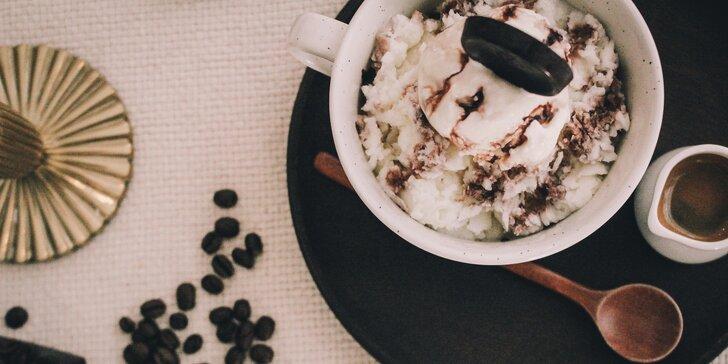 Ochutnejte netradiční kávu: Cafe Mocha Bingsu se zmrzlinou a espressem