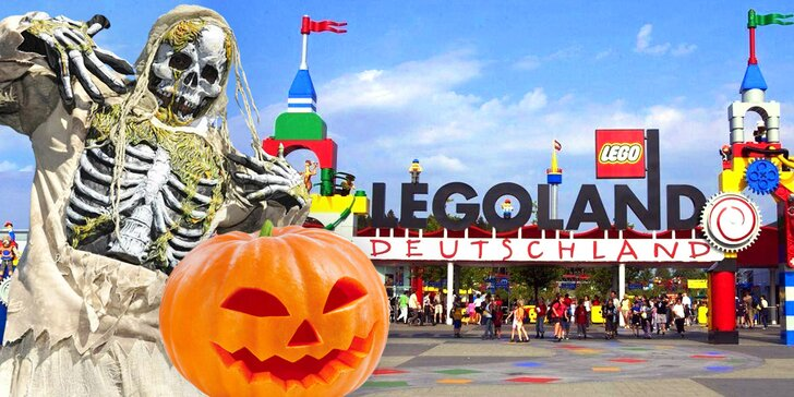 Halloween 28. října v německém Legolandu: doprava i vstup na atrakce