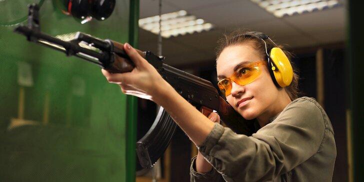 Střelecké balíčky: vnitřní střelnice, krátké i dlouhé zbraně nebo vlastní výběr