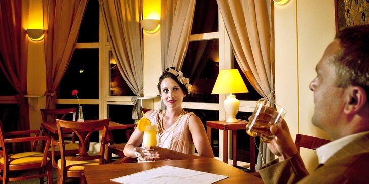 Romance jako ze starých časů: ubytování ve stylu art deco i dobré jídlo