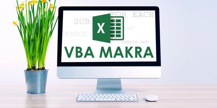 Online kurz Excel VBA a makra s doživotním přístupem a certifikátem