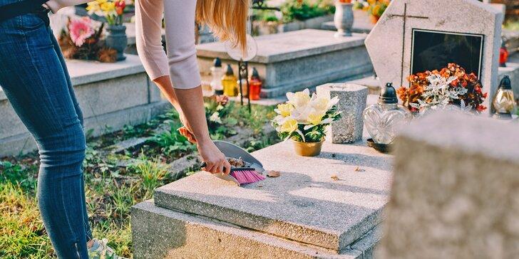 Nadstandardní služba: úklid hrobu jednorázově, ale i 4× za rok