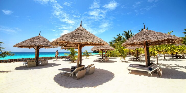 Exkluzivní 5* hotel u nejkrásnější pláže Zanzibaru: 6-12 nocí, all inclusive