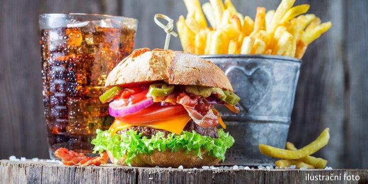 Pořádné burger menu v Ostravě: hovězí Angus, hranolky i nápoj