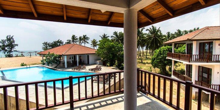 Plážový resort na Srí Lance: apartmány u moře, bazén, snídaně, český delegát
