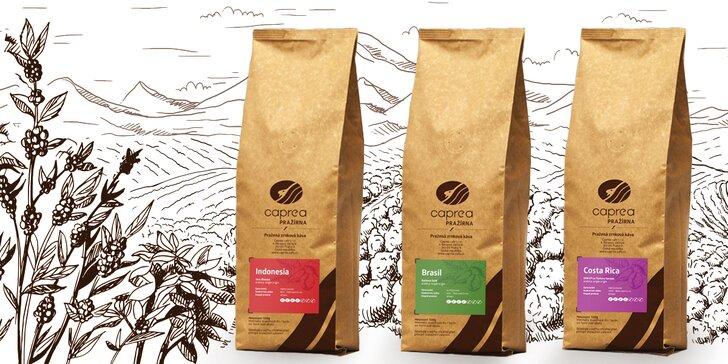 Skvělá káva: vouchery na nákup pražené kávy v hodnotě 600 a 1800 Kč