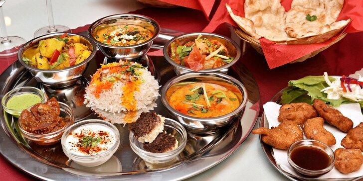 Indické masové i vegetariánské menu pro 2 osoby v centru Prahy