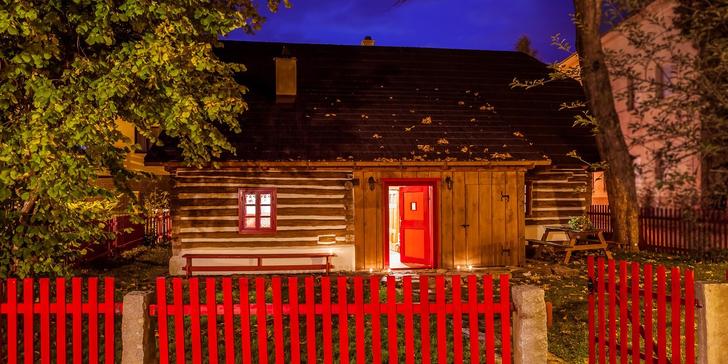 Pohádková Vysočina: pronájem stylové roubenky v Hlinsku až pro 8 výletníků