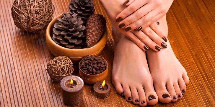 Péče o nohy a ruce: Pedikúra, manikúra s gel lakem nebo Shellacem