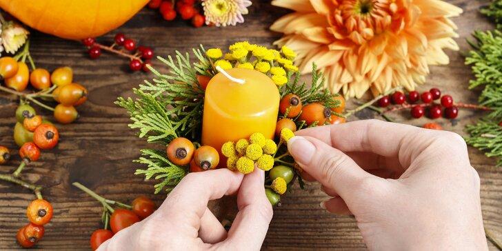 Hřejivé zdobení: workshop podzimní dekorace do interiéru i exteriéru