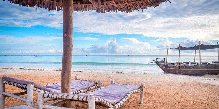 4* resort na exotickém Zanzibaru: 6–12 nocí, plná penze, jacuzzi s barem