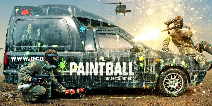 4 hodiny paintballu ve vojenských kasárnách včetně munice, nápoje a fota