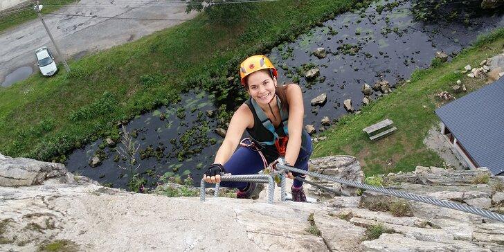 Zážitkové Via ferrata lezení s trenérem: Vír na Vysočině