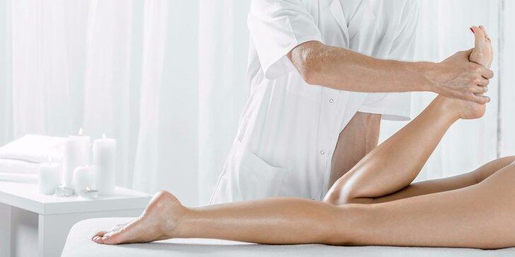 Hodinová manuální lymfatická drenáž nohou - 1, 3 nebo 5 ošetření