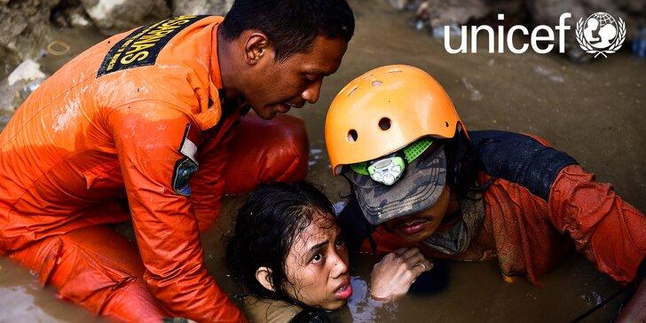 Tsunami v Indonésii: pomozte s UNICEF rodinám a dětem