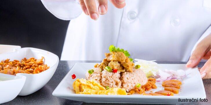 Seznámení s thajskou kuchyní: příprava 4chodového menu v Café Buddha