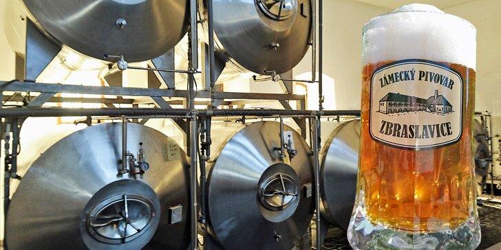Prohlídka Zámeckého pivovaru Zbraslavice včetně ochutnávky a piva domů