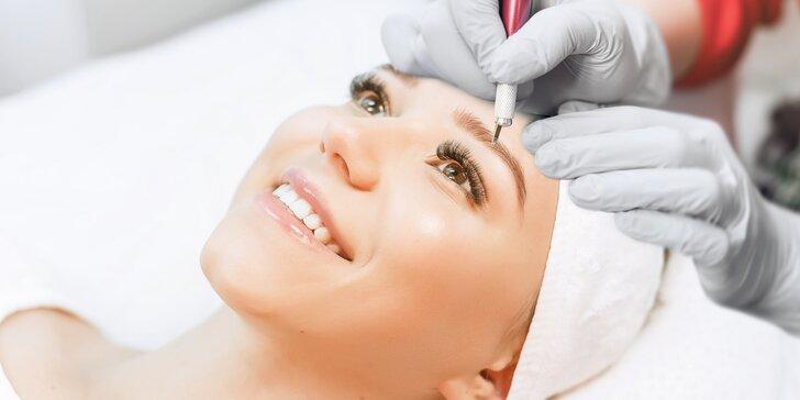Permanentní make-up obočí metodou microblading s pudrovým efektem