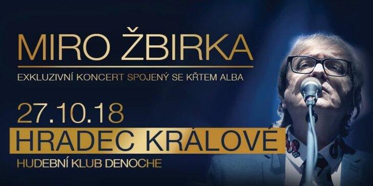Vstupenka na exkluzívní koncert se křtem nového alba Miro Žbirky