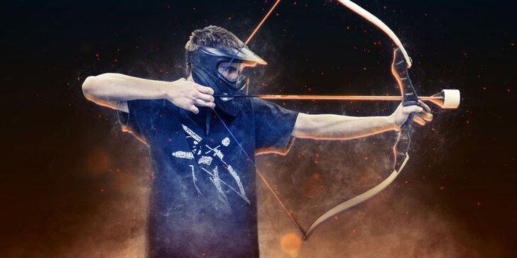 Akční adrenalinová lukostřelba v týmech: pro 6 hráčů nebo jednotlivě