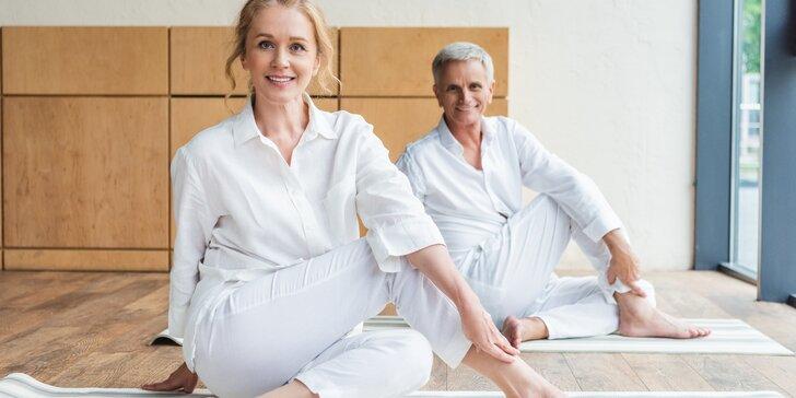 Jóga i ve zralém věku: 1 lekce nebo permanentka na 10 lekcí