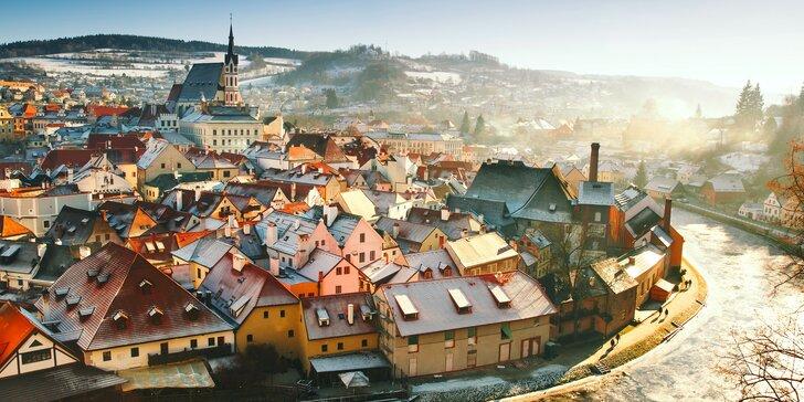 Romantika v centru Českého Krumlova: 2 nebo 3 dny s bohatou polopenzí