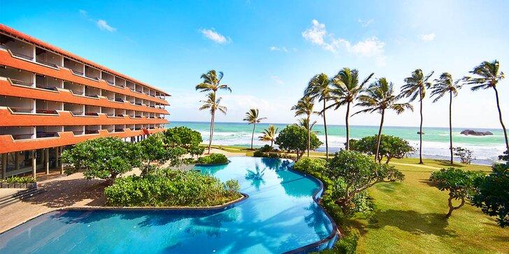 Krásný 4* hotel na Srí Lance: 6–12 nocí, all inclusive, 2 bazény, přímo na pláži
