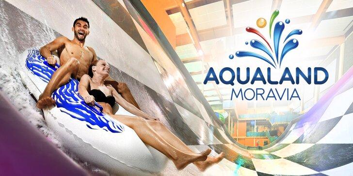 Celodenní vstupenky do Aqualandu Moravia včetně saun a wellness procedur