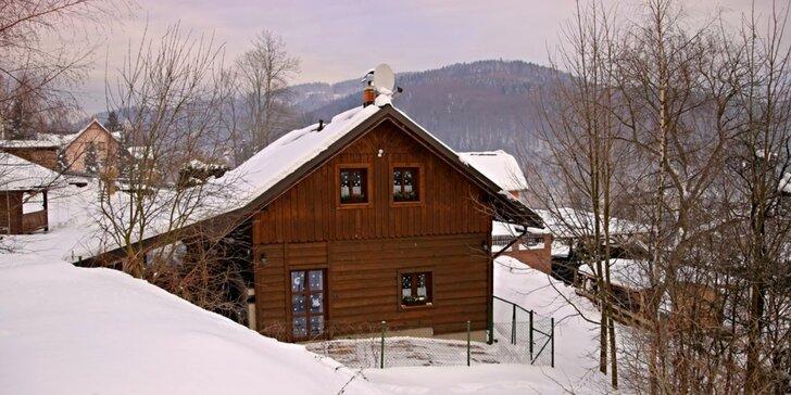 Podzim i zima v chalupě se saunou v Jizerských horách až pro 13 osob
