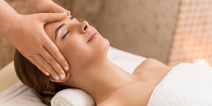 Indická antistresová masáž hlavy a regenerační masáž zad, krku, šíje i hýždí