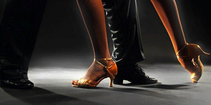 Lekce společenských tanců pro pár - 1 nebo 3 lekce