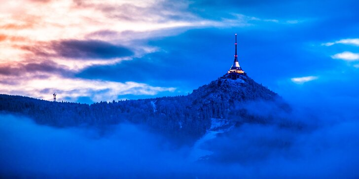 Na hory v zimě i zjara: 3 až 5denní dovolená s polopenzí pod Ještědem