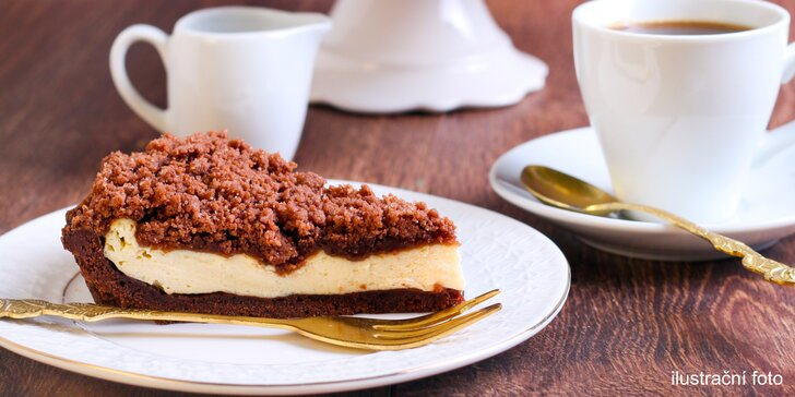 Jde se mlsat: poctivý dort a horký nápoj v centru Prahy pro 1 i 2 osoby