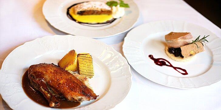Svatomartinské menu pro 2: paštika, vývar, husa, dezert a třeba i víno
