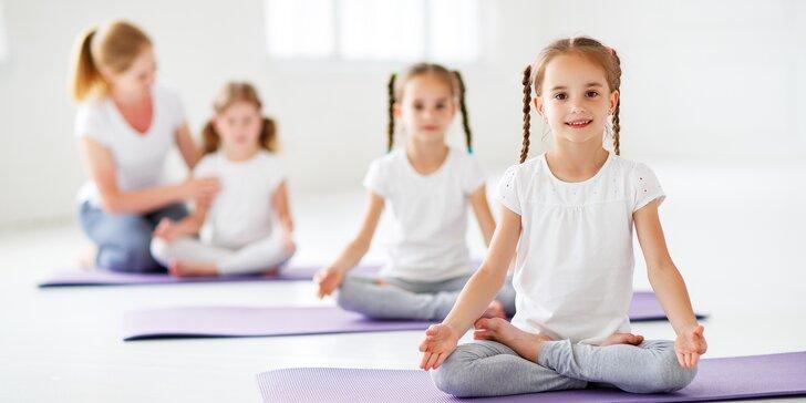 Jóga pro děti od 5 do 8 let: 1 zkušební lekce nebo permanentka na 10 vstupů