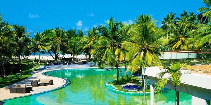 Luxusní 5* resort na Srí Lance: 6–12 nocí, polopenze, vířivka, posilovna