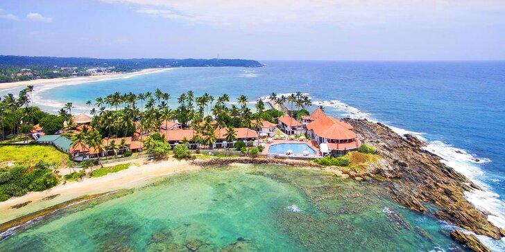 4* resort na Srí Lance: 6–12 nocí, polopenze, bazén se slanou vodou a jacuzzi