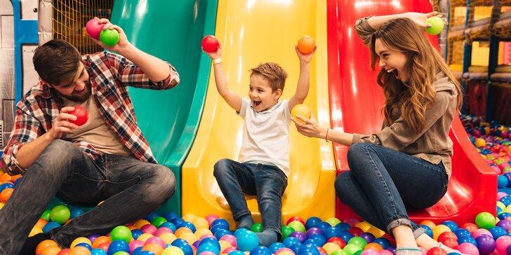 Celodenní dětské vstupenky do herny Smajlíkov: 3 či 5 vstupů
