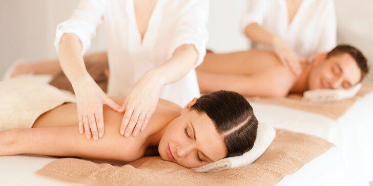Intenzivní odpočinek a relaxace při masáži pro dva na 60 nebo 90 minut