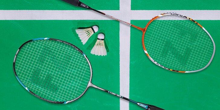 Hodinový badminton až pro 4 osoby včetně zapůjčení dvou raket a míčku