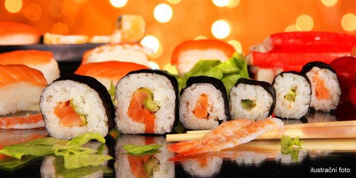 Milujeme sushi: set pro vegetariány, ale i s chobotnicí či smaženým lososem