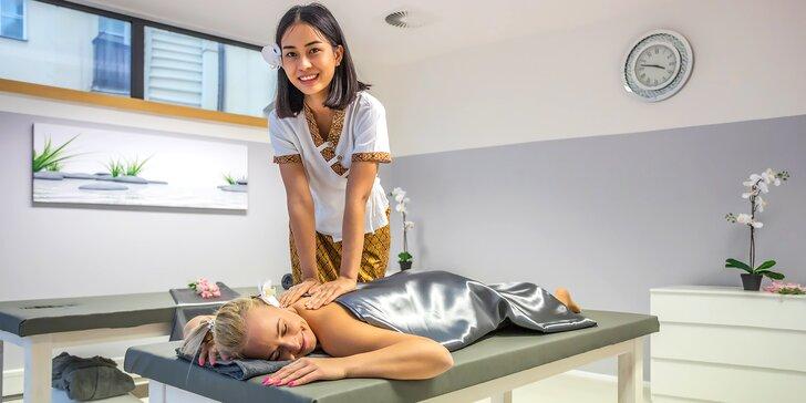Thajská masáž v novém luxusním salonu Diamond Spa, občerstvení i sekt