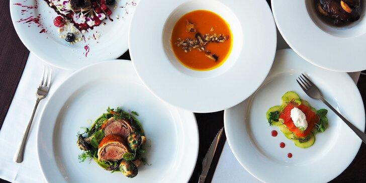 Dopřejte si zážitek: 5chodové degustační menu pro dva s výhledem na Brno